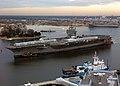 US Navy 040219-N-4013L-501 USS Theodore Roosevelt (CVN 71) transits the Elizabeth River to Norfolk Naval Shipyard, Portsmouth, Va.jpg