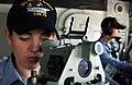 US Navy 050624-N-8148A-017 Aviation Ordnanceman 3rd Class Dylan Dentremont, right, stands a gun control watch.jpg