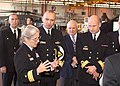 US Navy 060215-N-0000X-001 Commander, Mine Warfare Command Rear Adm. Deborah Loewer, briefs Royal Norwegian Navy guests on board Naval Air Station Corpus Christi.jpg