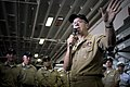 US Navy 070719-N-0696M-153 Chief of Naval Operations (CNO) Adm. Mike Mullen speaks with Sailors assigned to amphibious assault ship USS Tarawa (LHA 1).jpg