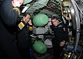 US Navy 090112-N-7705S-079 Republic of Korea Navy Chief of Naval Operations Adm. Jung Ok-Keun and Lt. Cmdr Brad Terry, left, executive officer of the Los-Angeles class attack submarine USS Boise (SSN 764) cover their ears.jpg
