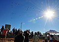 US Navy 110212-N-ZS026-405 Spectators watch as the Parade of Flight ends with a formation of 35 aircraft above Naval Air Station North Island.jpg