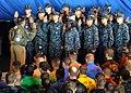 US Navy 120121-N-JV638-002 Secretary of Defense Leon E. Panetta re-enlists 21 Sailors aboard the aircraft carrier USS Enterprise (CVN 65).jpg
