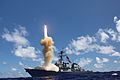 US Navy 121025-N-ZZ999-201 The guided-missile destroyer USS Fitzgerald (DDG 62) launches a Standard Missile-3 as part of a joint ballistic missile defense exercise in the Pacific Ocean on Oct. 25, 2012..jpg