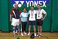US Senior International Badminton Tourney (Miami) - MX70 Consolation Final - Owen & Margo def Heini & Eliana 19 & 7 (16442466287).jpg