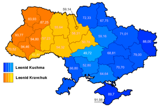 Ukrainian presidential election, 1994 - Image: Ukraine presidential elections 1994, second round
