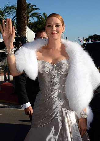 At the 2013 Cannes Film Festival Uma Thurman Cannes 2013.jpg