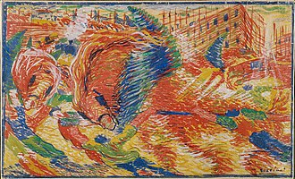 Futurism - Umberto Boccioni, sketch of The City Rises (1910)