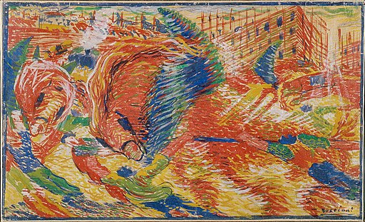 """The City Rises"" by Umberto Boccioni"