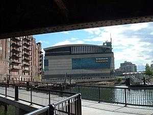 Boston Harborwalk - Under Charlestown Bridge in 2008.