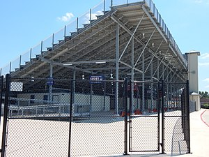 Husky Stadium (Houston Baptist University) - Image: Under the Grandstands 2, Husky Stadium Football