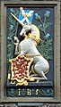 Unicorn and Thistle, heraldic panel of King James V at the gatehouse of Holyrood Palace, Edinburgh.jpg