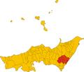 Unione dei comuni delle Valli joniche dei Peloritani-mappa comuni.png