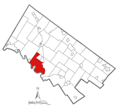 Location of Upper Providence Township in Montgomery County