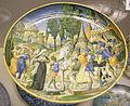 Urbino, Francesco Durantino, piatto con la leggenda di coriolano, 1544.JPG