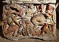 Urna in alabastro con la morte di ippolito, da sarteano, 210 ac ca. 02.jpg
