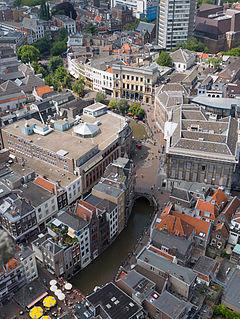 Oudegracht street in Utrecht, the Netherlands