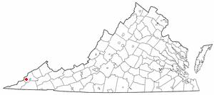 Appalachia, Virginia - Image: VA Map doton Appalachia