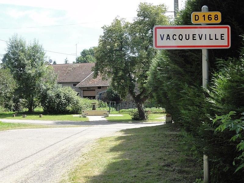 Vacqueville (M-et-M) city limit sign