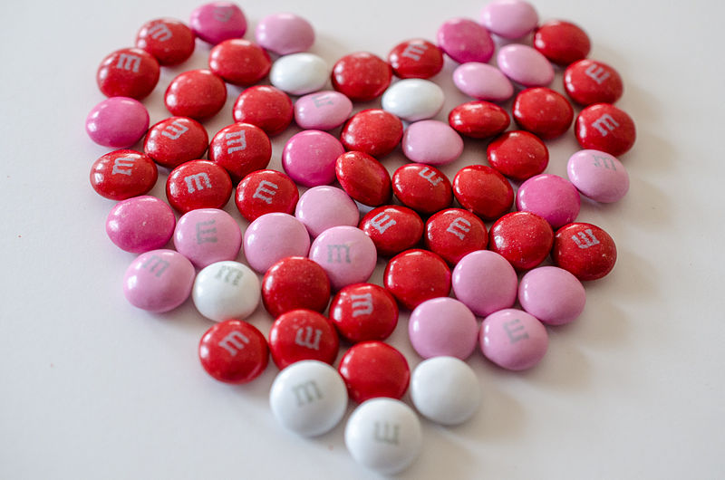 File:Valentine's day M&Ms in the shape of a heart (8418026760).jpg
