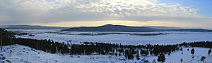 Uda River (Republic of Buryatia) - valley of the Uda river near the village of Khorinsk the first of January