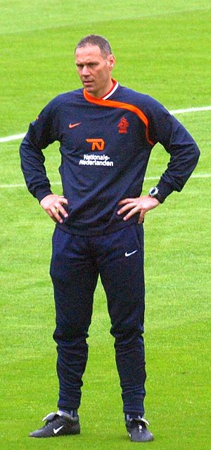 Van Basten while manager of the Netherlands. Van Basten Oranje.jpg