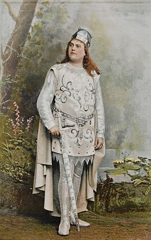 Ernest van Dyck - Image: Van Dyck as Lohengrin (1895)