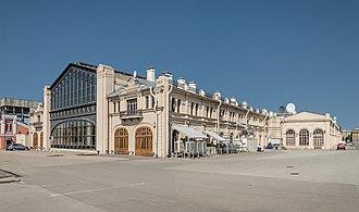 Varshavsky railway station - Varshavsky station, view from the railways