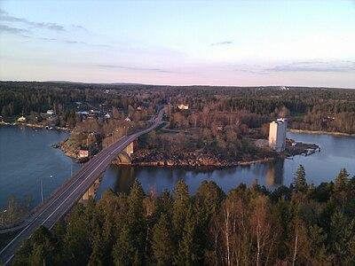 Vägbro på Åland