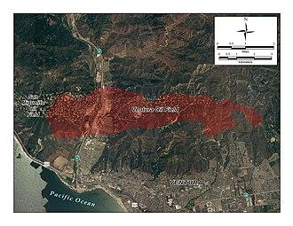 Ventura Oil Field - Detail of the Ventura field, showing the city of Ventura
