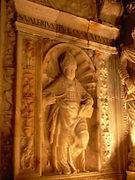 Veruela - Sepulcro del abad Lope Marco - Detalle San Valero.jpg