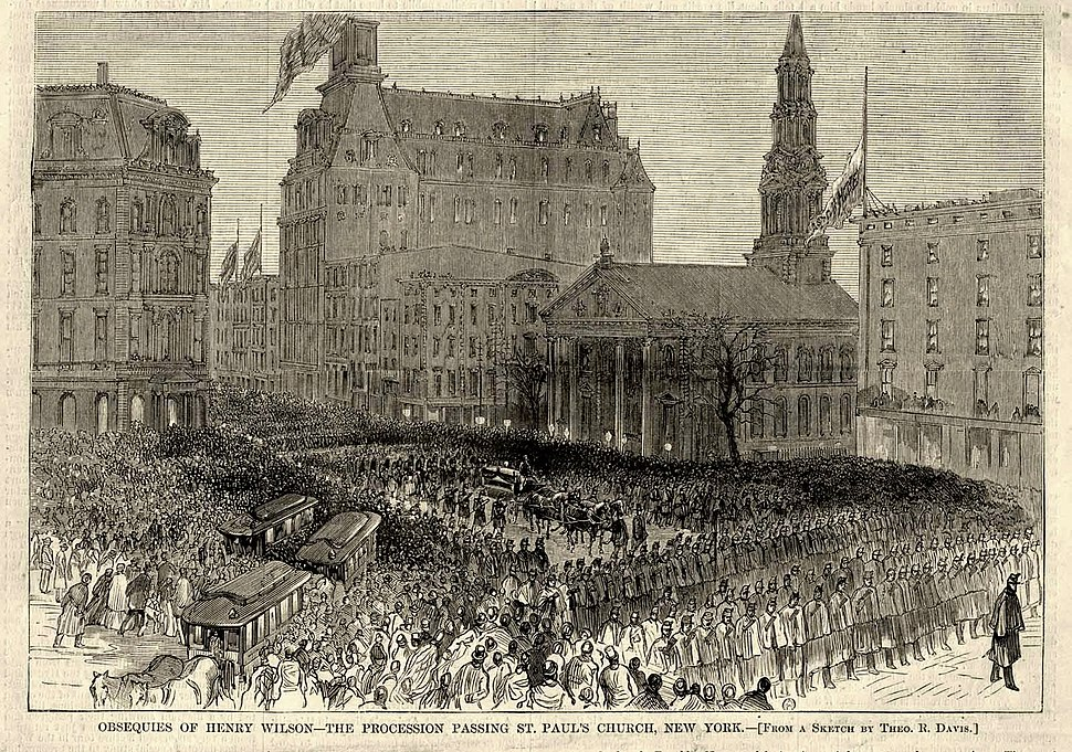 Vice President Henry Wilson funeral procession, New York City