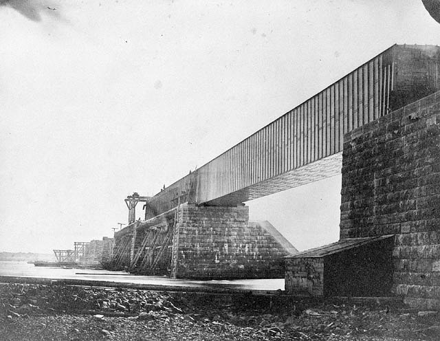 Victoria Bridge under construction
