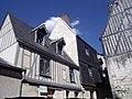 Vieux tours, place du Grand Marché, 3 et 5 rue de la Serpe, hôtel de Jean Bourdichon.jpg