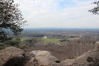 Forsyth County, Georgia - View of northern Forsyth County from Sawnee Mountain's Indian Seats