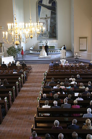 Liturgy - Wedding ceremony inside the Kiuruvesi Church in Kiuruvesi, Finland