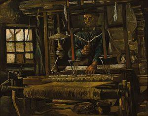 Weavers' cottage - A weavers cottage, as seen by Vincent van Gogh, Nuenen 1884