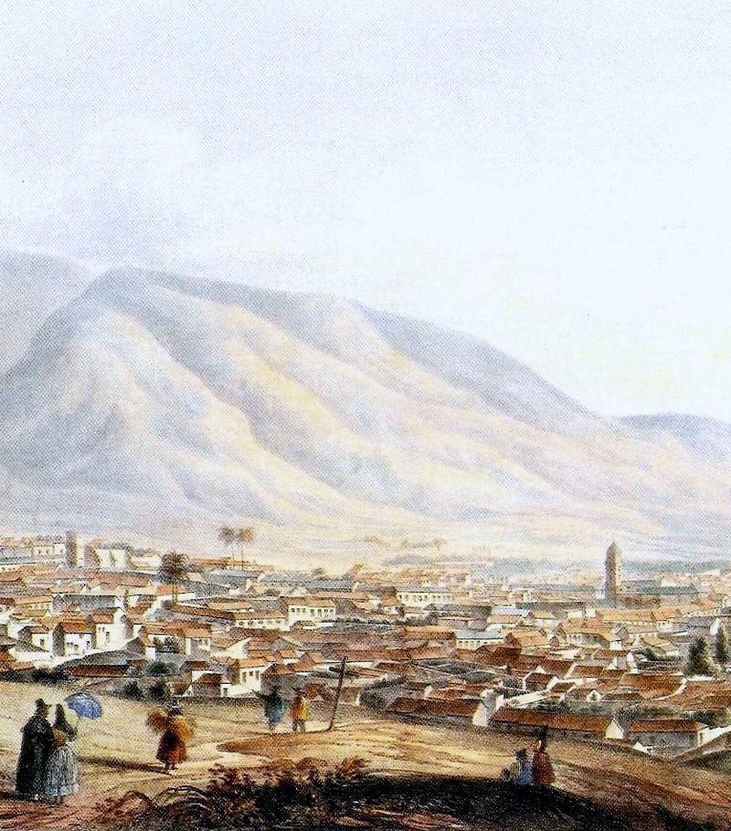 Vista de Caracas desde El Calvario (1839), de Joseph Thomas. Galería de Arte Nacional.