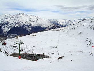 Aragon - Formigal Ski Resort near Formigal town, Sallent de Gállego.