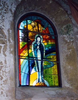 Henry Anglade -  Stained-glass window at the Notre Dame des Cyclistes