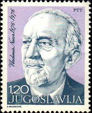 Speaker of the Croatian Parliament - Vladimir Nazor