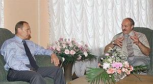 VITEBSK, BELARUS. President Putin with Belarus...