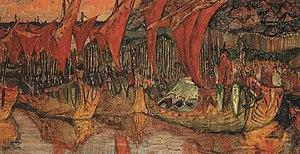 Rus'–Byzantine War - Saint Vladimir's Korsun campaign, by Nicholas Roerich.