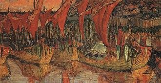Rus'–Byzantine War - Saint Vladimir's Korsun campaign, by Nicholas Roerich (1900).