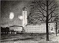 Voorlopig ontwerp voor een Raadhuis te Velsen, aan het Raadhuisplein, te IJmuiden (arcitect W.M. Dudok). Aangekocht in 1976 van fotograaf C. de Boer. Identificatienummer 54-010321, NL-HlmNHA 1478 25900 K 38.JPG
