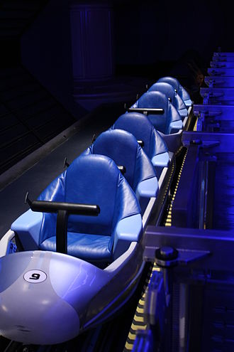 Space Mountain (Magic Kingdom) - The same trains above after the 2009 refurbishment.