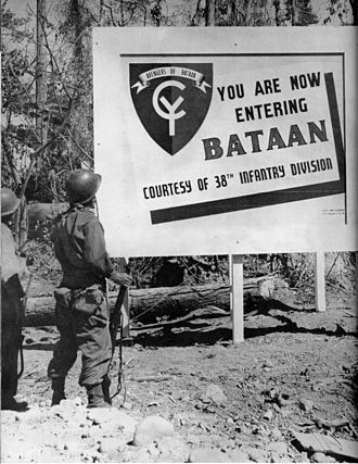 38th Infantry Division (United States) - Sign erected in the Philippines during World War II.