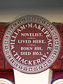 WILLIAM MAKEPEACE THACKERAY NOVELIST LIVED HERE. BORN 1811. DIED 1863.jpg