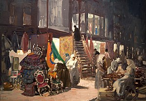 George Luks - Allen Street, c. 1905, Hunter Museum of American Art