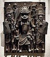 WLA metmuseum Plaque Warrior and Attendants Edo.jpg
